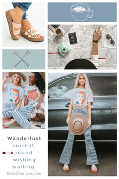 Grab your coffee and enjoy today's mood board designs. Wanderlust and Mom Life T Shirts. Current mood and styles. Fashion mood boards to make you smile! Todays Mood, Fashion Boards, Current Mood, Make You Smile, Mood Boards, Color Inspiration, Wanderlust, Mom, Interior Design