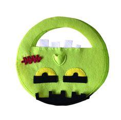 Taschen - Halloween-, Kamelle-Sammeltasche, Monster-Tasche, - ein Designerstück von Designer-Brause bei DaWanda