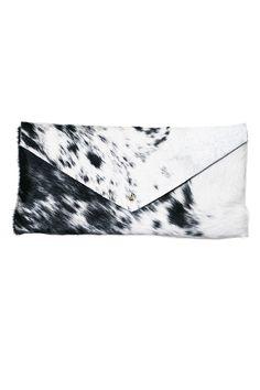 CHARLIE HORSE  Maxi Envelope - Black & White Speckle