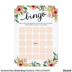 Bridal Shower Bingo Cards kitchen tea or bridal shower game