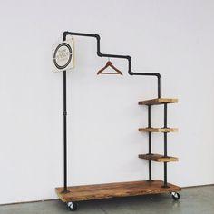Rustic Industrial Reclaimed Wood Stair Step by TylerKingstonWoodCo