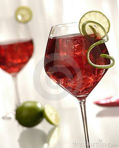 Two red wine cocktails by Bruce Shippee, via Dreamstime
