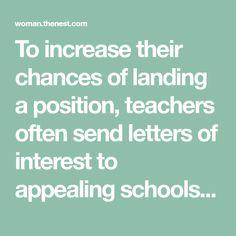 Letter interest job position letter of interest teaching position how to write a teacher letter of interest thecheapjerseys Images