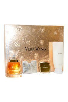 Vera Wang Fragrances Gift Set (Eau De Parfum Spray, Body Lotion, Creme Parfum Shimmer, Pouch) by Vera Wang. $69.95. All our fragrances are 100% originals by their original designers. We do not sell any knockoffs or immitations.. Vera Wang Perfume for Women 4 Pc. Gift Set ( Eau De Parfum Spray 3.4 Oz + Body Lotion 3.4 Oz + Cr?me Parfum With Subtle Shimmer 0.10 Oz + Pouch). Packaging for this product may vary from that shown in the image above. 4 Pc. Gift Set ( Eau De Parfum...