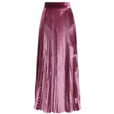 Luisa Beccaria     Velvet Pleated Skirt ($1,265) ❤ liked on Polyvore featuring skirts, bottoms, pink, flare skirt, purple pleated skirt, high-waisted skirts, high-waist skirt and pleated skirt