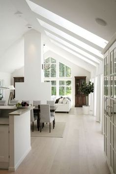 Bungalow Extensions, Bungalow Renovation, Modern Farmhouse Interiors, Cabins And Cottages, Open Plan Living, Home Interior Design, Home And Living, Interior Inspiration, Living Spaces