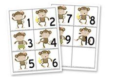 monkey printables for AJ's first week of Daddy School Preschool Letter M, Preschool Jungle, Free Preschool, Preschool Themes, Classroom Themes, Classroom Activities, Counting Activities, Preschool Class, Letter Activities