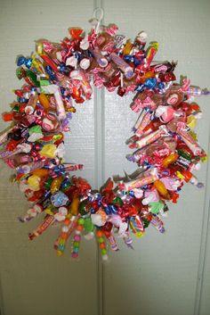 Candy Wreathwreathparty by babybundlesandmore on Etsy, $20.00