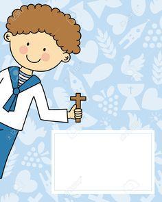 Boy first Communion Invitation Card - Stock Vector , Baptism Cookies, Boys First Communion, First Communion Invitations, Free Vector Graphics, Paw Patrol, Invitation Cards, Invitation Templates, Photo Book, Card Stock