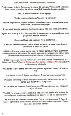 LIÇÃO BÍBLICA INFANTIL CARNAVAL VERSUS FRUTO DO ESPÍRITO SANTO CARNAVAL VERSUS FRUTO DO ESPÍRITO SANTO        SEI QUE O CARNAVAL JÁ PASSO...
