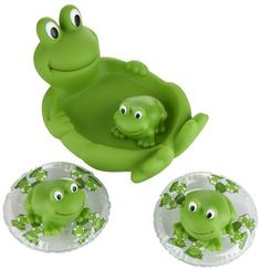 Elegant Baby Frog Bath Set; #DiaperscomNursery