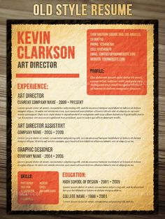 Old Style Resume