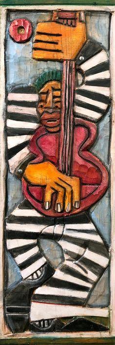 Leadbelly by LaVon Williams Williams Basketball, Black Artists, Art School, Art World, Illustrators, Folk Art, Jr, Carving, Popular Art
