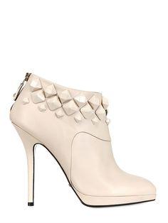 GREY MER 100MM STUDDED CALFSKIN BOOTS - http://lustfab.com/shop-lust/grey-mer-100mm-studded-calfskin-boots/
