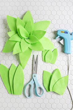 DIY: Cómo hacer cactus de fieltro para la habitación de los niños