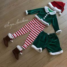 Купить Новогодние Эльфы для мальчика и девочки карнавальный костюм в интернет магазине на Ярмарке Мастеров