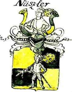 Familienwappen der Nüszler / Coat of Arms of The Family Nüszler / Nüsseler.