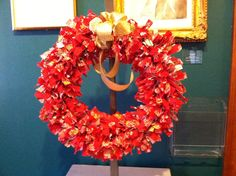 """""""Jolly and Bright"""" Wreath created by Fran Donelson"""