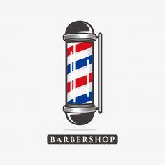 Barber Poster, Barber Logo, Barber Shop Pole, Barber Shop Decor, Gentleman Barber Shop, Old School Barber Shop, Beard Logo, Barbershop Design, Old Logo