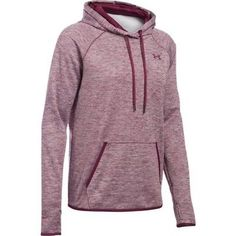 Hoodies and Sweatshirts 59325: Under Armour 1280690-609 Womens Icon Hoodie Twist - Maroon/Maroon-Large BUY IT NOW ONLY: $49.95
