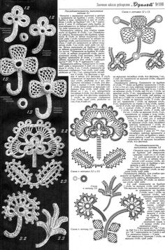 crochet irlandes (irish crochet motifs)