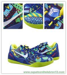 sports shoes 16872 c4db6 Azul   Amarelo Nike Kobe 9 EM