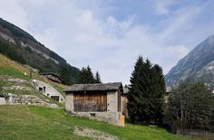 villa vals, vals, switzerland the barn is the entrance  Photograph by Iwan Baan