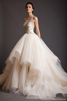 krikor jabotian spring 2014 akhtamar couture wedding dress sleeveless