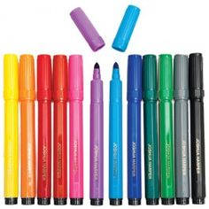 Each of these superb value coloured markers is gold embossed with your child's name. Plus, with extra thick tips, each marker can colour both thick and thin.