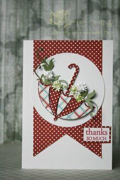 handmade card-memory box(네이버블로그) Butterfly Cards, Flower Cards, Handmade Birthday Cards, Greeting Cards Handmade, Umbrella Cards, Memory Box Cards, Quilling Cards, Stamping Up Cards, Card Sketches