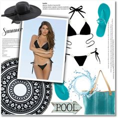 Summer pool! by ladyluxswimwear on Polyvore featuring Tory Burch