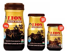 Lion Dates Syrup  The Lion Dates Syrup is one of the fine brands from the other. Date contain about all the vitamins and minerals which are necessary for a human being. Doctor all over the world are suggesting for the use of dates consumption. The lion dates syrup is one such example, which helps in maintaining the body health and curing several numerous human diseases due to the present of their unique high nutritional value.