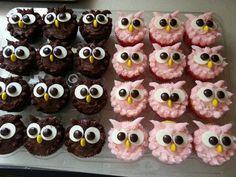 Les muffins mangent un dessert délicieux   - DIY - Do it yourself - Selber Mach... - #délicieux #dessert #DIY #les #Mach #mangent #muffins #selber Owl Cupcakes, Animal Cupcakes, Cute Cupcakes, Cupcake Cookies, Owl Cupcake Cake, Owl Party Favors, Elegante Desserts, Dessert Halloween, Halloween Party