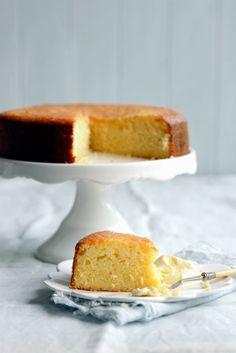 Light and Luscious Lemon Cake with Mascarpone and Lemon Syrup