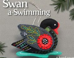 Goose a-Laying PDF pattern for a hand sewn wool felt by mmmcrafts