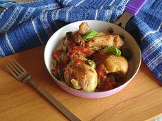 pollo al pomodoro e olive verdi