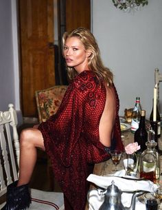 Rock 'n' Roll Style ✯ Kate Moss. Vogue