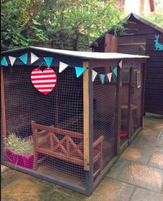 All sorts of rabbit housing idea for you to view. Great ideas, lots of fun and ways to make your bunnies' housing an attractive feature in the garden/home as well as a fantastic environment for. All sorts of rabbit housing idea for you to view. Bunny Sheds, Rabbit Shed, Rabbit Run, House Rabbit, Pet Rabbit, Bunny Cages, Rabbit Cages, Diy Bunny Hutch, Rabbit Enclosure