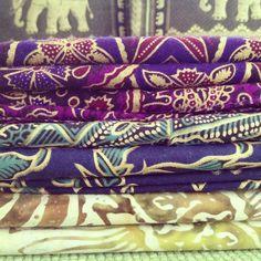 Indonesian batik fabric, sarong from Bali.