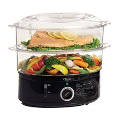 Buy BELLA Quart Stackable Baskets Healthy Food Steamer with Rice & Grains Tray, Auto Shutoff & Boil Dry Protection for Cooking Vegetables, Grains, Meats Healthy Cooking, Healthy Recipes, Healthy Food, Cooking Corn, Healthy Eating, Cooking Pumpkin, Cooking Salmon, Healthy Treats, Electric Food Steamer