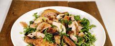 Roast Chicken with Bread & Arugula Salad ...  recipe from Ina Garten!