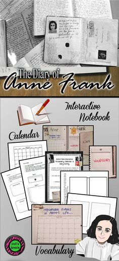 This interactive notebook activity can be created at the end of a unit about WWII or Anne Frank. Students will create a vocabulary pocket with important terms and definitions, a calendar/timeline to show the important dates related to Anne's life, and a diary as if they were in the same dire situation that Anne and her family were in, describing their feelings, fears, and concerns. QR codes are provided.