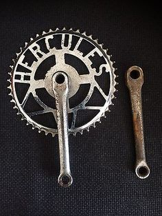 Vintage Hercules Bicycle Cranks / Chainset Suit 3 Speed Path Racer 48T