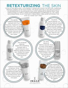 Different types of exfoliants: Mechanical: grainy, physically scrubs the dead skin cells off  Chemical: when dead skin cells are loosened by a glue-like substance that holds the cells together  Enzyme: enzymes are like pac-man that go after dead skin cells. a great alternative for sensitive and rosacea-prone skin. #imageskincare