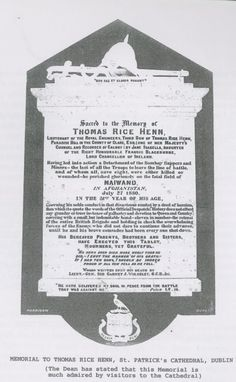 Thomas Rice Henn plaque