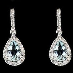 Diamond earrings, wish I could have these for my wedding