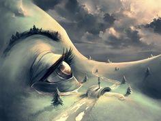 Artista francês cria universos de fantasia surreais inspirado por Hayao Miyazaki…
