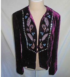 Nanette Lepore Peplum Embellished Beaded Velvet Trophy Jacket NOS Oxblood 10 Sequin Jacket, Nanette Lepore, Oxblood, Baby Items, Peplum, Sequins, Velvet, Blazer, Fashion Outfits