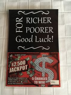 Exclusive Wedding Lottery Ticket Holder Favors Only At Adornibles (For RicherFor Poorer) Pack of 25 by Adornibles on Etsy
