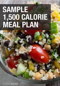 A DAY IN FOOD: This is what a 1,500 calorie meal plan looks like!